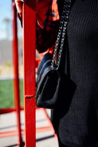 Chanel classic flap black bag