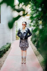 Joie dress and bomber jacket