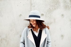 Club Monaco hat and Theory jacket