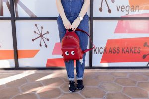 Anya Hindmarch red backpack