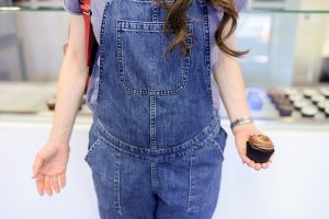 Asos denim maternity overalls