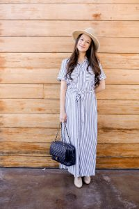 Striped dress outfit-Call me Lore