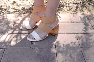 Call me Lore wearing Rebecca Minkoff sandals