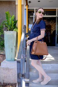 Call me Lore wearing See by Chloe Denim Dress and Fendi Peekaboo Bag