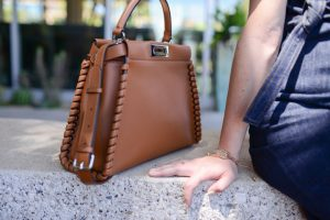 Fendi Tan Peekaboo Bag