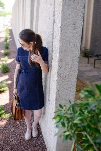 Call me Lore wearing See by Chloe Denim Dress and Fendi Peekaboo Bag