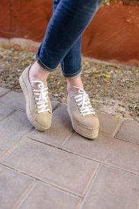 Call me Lore wearing Miu Miu platform espadrille sneaker