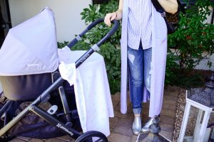 Call me Lore using the Uppa Baby stroller