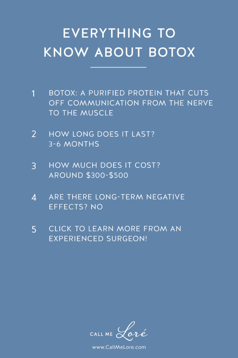 Call Me Lore's Everything You Need to Know About Botox