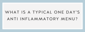 Anti inflammatory menu? One day's meals Call Me Lore & Chef Niki Connor Anti-Inflammatory Diet