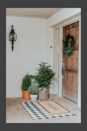 2018 Holiday Home Decor Inspiration Call Me Lore Lexi Grace Interior Design Minimal Wreath Front Door Holiday Decor